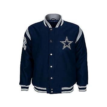 official photos bbc3a 6518c Amazon.com : Dallas Cowboys Jacket Cowboys Leather Wool Coat ...