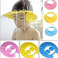 Shriya Enterprise Adjustable Safe Soft Bathing Baby Shower Cap Wash Hairbaby Cap