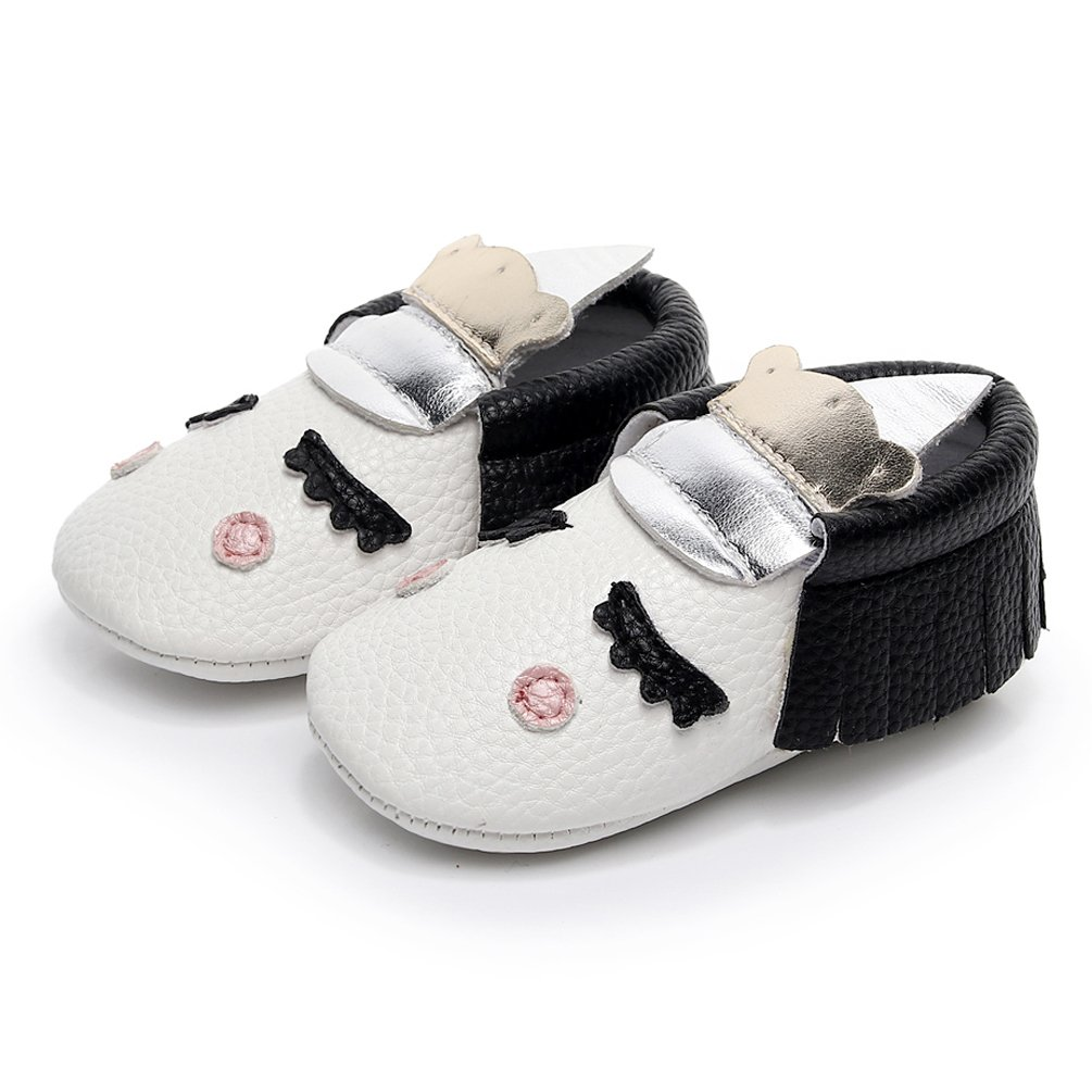 27362b33b39d7 Amazon.com   HONGTEYA Personalized Baby Boys Girls First Walkers Non-Slip  Golden Angle Unicorn Crib Shoes Moccasins   Sneakers