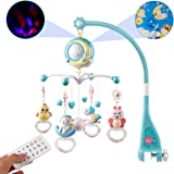 Mini Tudou Baby Musical Mobile Crib with Music and Lights, Timing Function, Projection, Take-Along Rattle and Music Box…