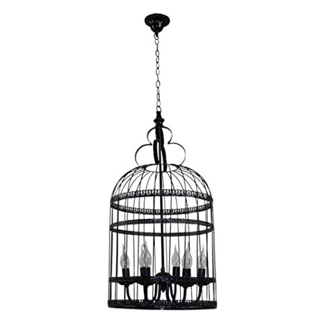 Jaula vintage lámpara creativo Romántico restaurante café escalera ...