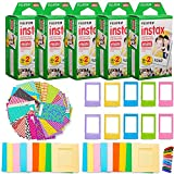 Photo : Fujifilm Instax Mini Instant Film (5 Twin Packs, 100 Total Pictures) + 120 Sticker Frames + 10 Plastic Desk Frames + 20 paper frames + Micro-fiber Cleaning Cloth