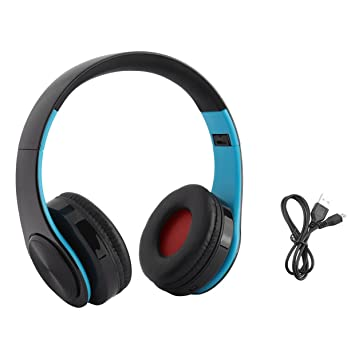 Auriculares inalámbricos Bluetooth Auriculares Estéreo Plegables con micrófono Manos Libres Llamada FM Radio Música Auriculares Soporte