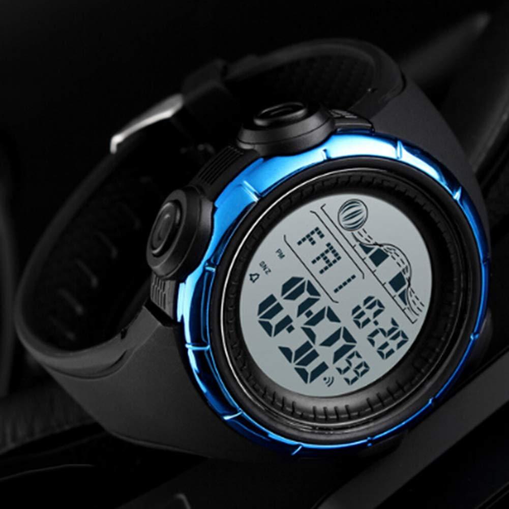 Reloj Hombre Mujer Cronógrafo Impermeable Alarma Cuenta atrás Deporte Digital Luminoso - Azul: Amazon.es: Relojes