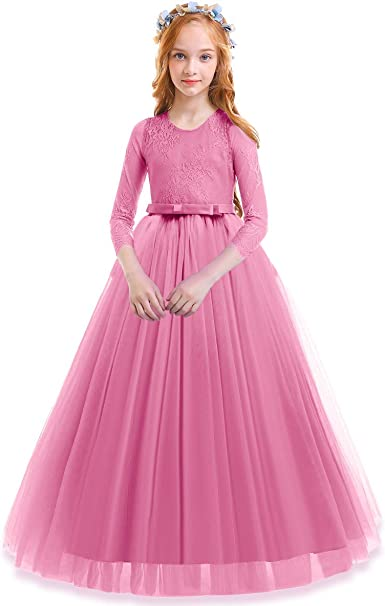 NEW Girls Pink Lace Hi-Low A-Line Skirt Medium 7-8 Spring Summer Dressy Party