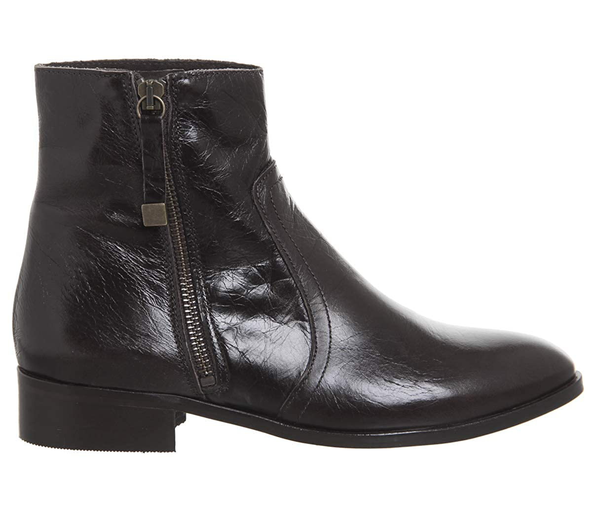eccebfb173e Office Actor Side Zip Flat Ankle Boots: Amazon.co.uk: Shoes & Bags