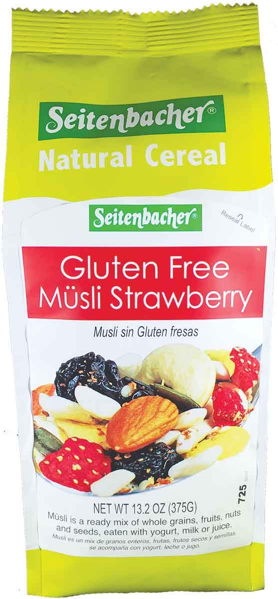 Seitenbacher Gluten Free Muesli Strawberry Natural Cereal, 13.2 Ounce