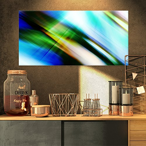 Rays of Speed Blue Green Abstract on Canvas Art Wall Photgraphy Artwork Print