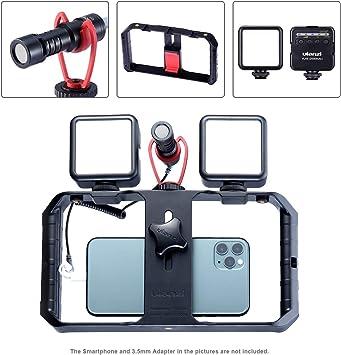 ULANZI Kit de vídeo para smartphone (incluye 2 luces LED de vídeo ...