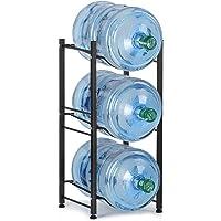 Water Cooler Jug Rack, 5 Gallon Water Jug Holder Water Bottle Storage Rack, 3 Tiers, Black