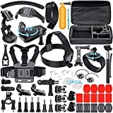 Leknes Action Camera Accessories for GoPro Hero 6 Hero 5 Hero 4 Gopro Hero Session and SJ4000 SJ5000 AKASO EK7000 Apeman A80 Xiaomi Yi  Lightdow Rollei IceFox ODRVM WiMiUS Sony , Sport DV Bundle for GoPro Hero Accessory Set with Case