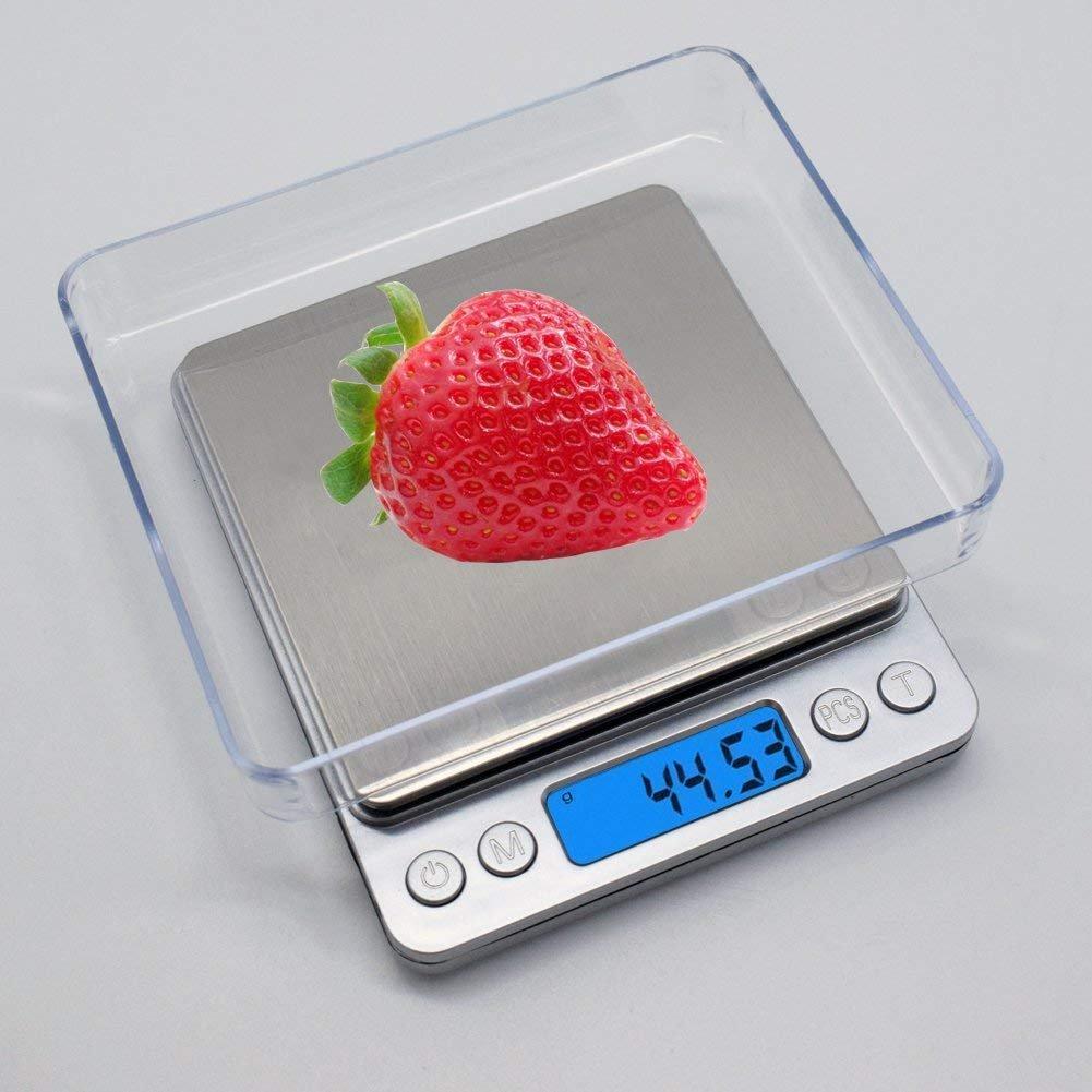 Báscula de Cocina Webat CF03Multifunción Báscula digital de cocina con colgador - Acero inoxidable retroiluminado de alta precisión Batería portátil Báscula ...
