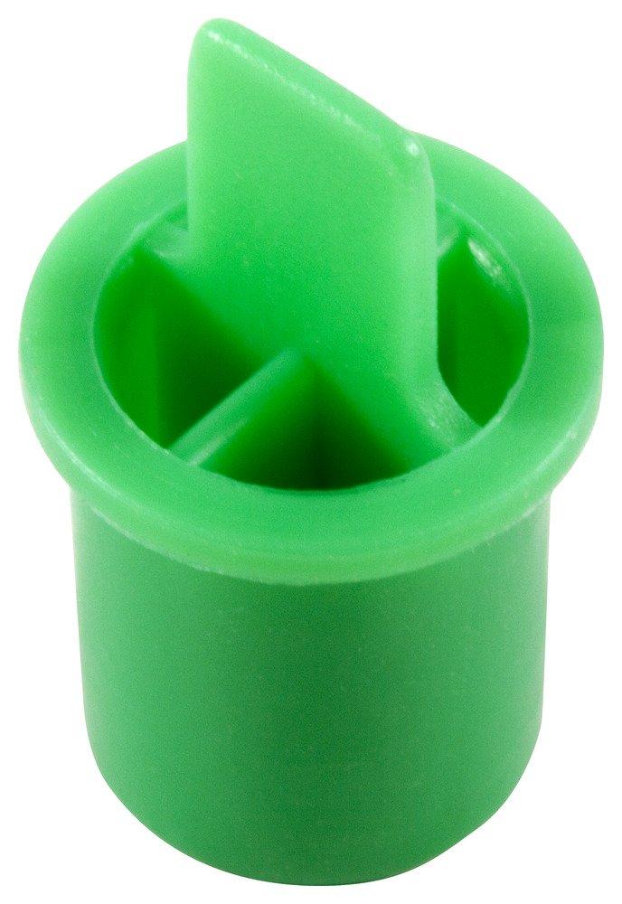 Caplugs QOT121AG1 Plastic Plug for Type K Style Tubing. OT-12, PE-LD, Cap OD .50'' Plug ID .543'', Green (Pack of 1800)
