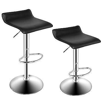 Homdox Bar Stools Adjustable Leather Bar Chairs Fashion Salon