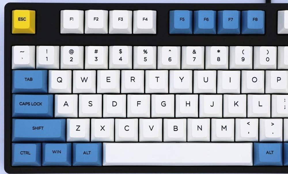 BHGFCGYUH Blue Sky and White Cloud keycap 108//155 Keys PBT MX Switch for Mechanical Keyboard keycap