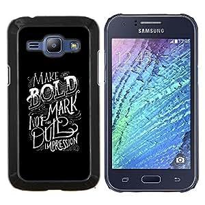 """Be-Star Único Patrón Plástico Duro Fundas Cover Cubre Hard Case Cover Para Samsung Galaxy J1 / J100 ( Impresión Dull Negrita inspirada"""" )"""