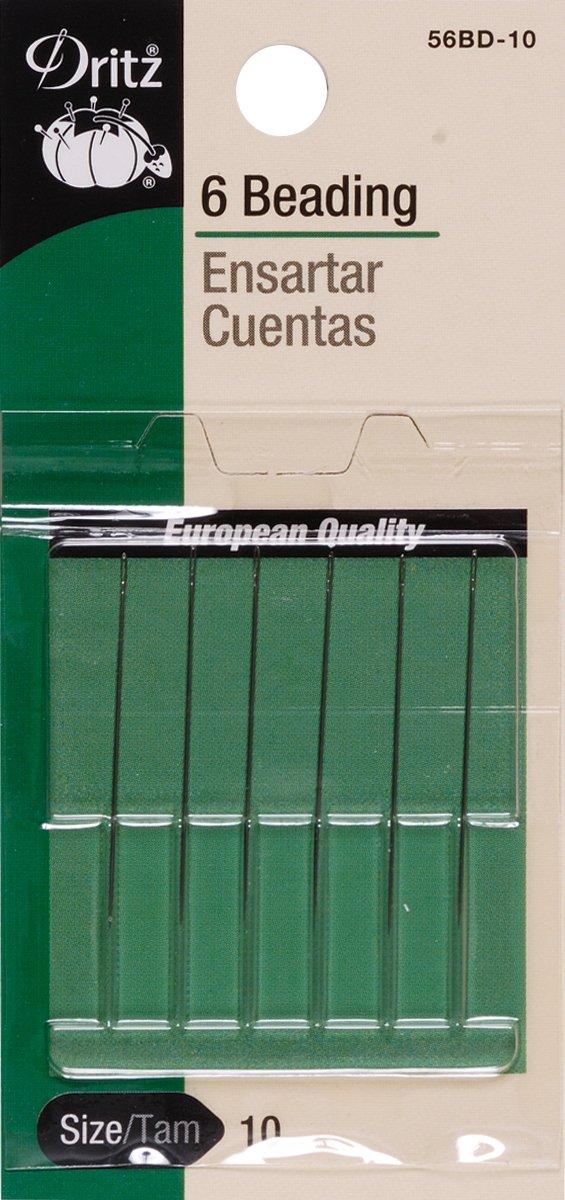Short Beading Hand Needles-Size 10 1-1/4 Inch 6/Pkg DRITZ 56BD10