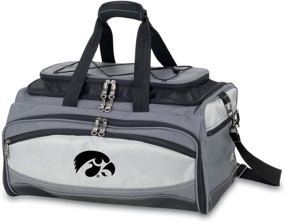 NCAA Iowa Hawkeyes Buccaneer刺繍セット、ワンサイズ、ブラック