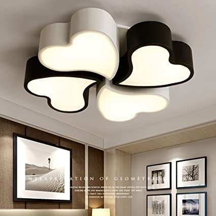 Amazon dididd ceiling light simple modern heart shaped warm dididd ceiling light simple modern heart shaped warm and romantic led acrylic ceiling lights aloadofball Image collections