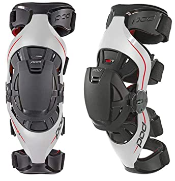 Mx Knee Braces >> Pod K4 Mx Knee Brace Knee Brace Paired Schwarz White