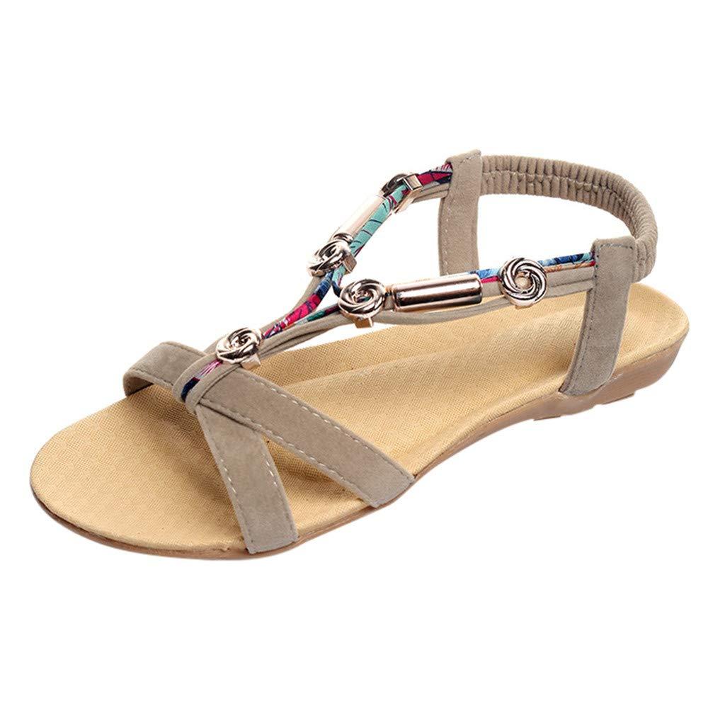 Darringls_Sandalias de Primavera Verano Mujer,Sandalias de tacón Alto Antideslizantes de Moda para Mujer Sexy Zapatos Tacón con Cordones Sandalias de Vestir ...
