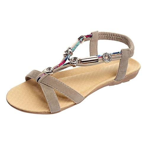 De Elástico Sandalias Modaworld Mujer Zapatos Cinturón DEHW29I