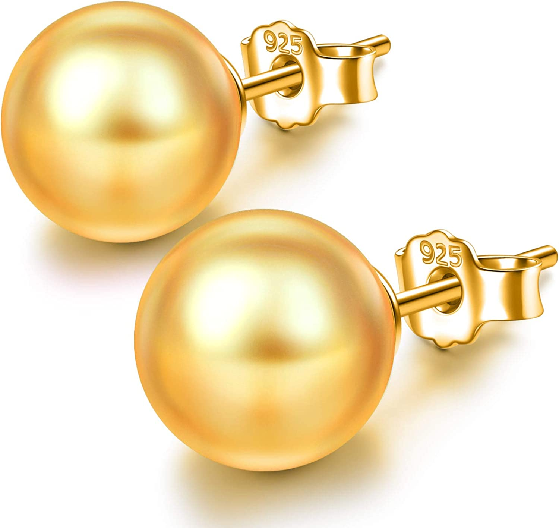 Susan Y Regalo para Mamá, Sólo Tu Pendientes de Plata para Mujer con Perlas de Swarovski Bianco, Joyería para Ella, Hipoalergénicas