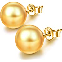 J.LUNA Mother's Day Earrings Gifts for Mom Pearl Stud Earrings Sterling Silver Girls Clip On Pearl Earrings for Women…