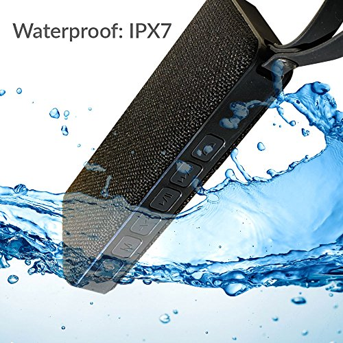Jyro Pro Sounds Waterproof Bluetooth Speaker w/ 10 Hours Playtime, IPX7 Portable, 10W Stereo Wireless, Perfect for Shower Speaker Indoor, Outdoor, Beach, Travel, Vacations