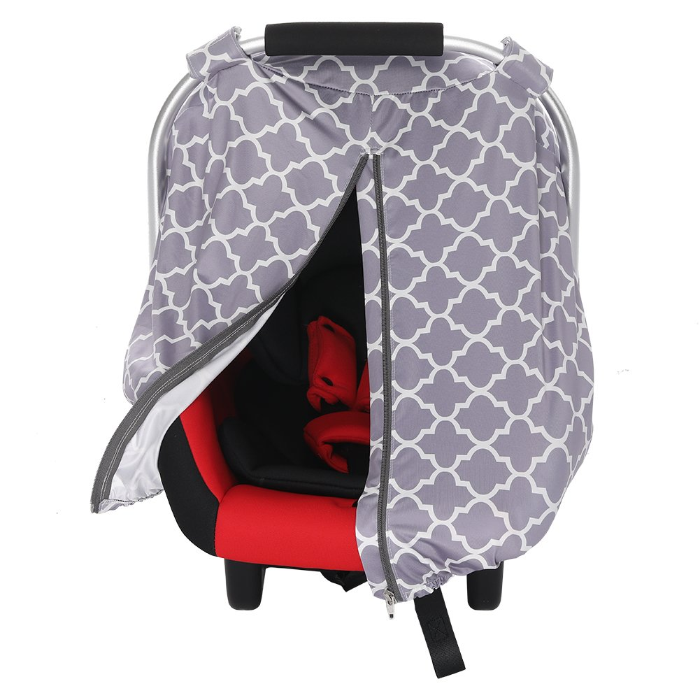 Luerme Infant Car Seat Canopy Cover Sunshade Basket-style Seat Sunshade Breastfeeding Cover Shopping Cart Stroller Carseat Covers for Girls and Boys Breast Care Hood All-Weather Car Seat Cover