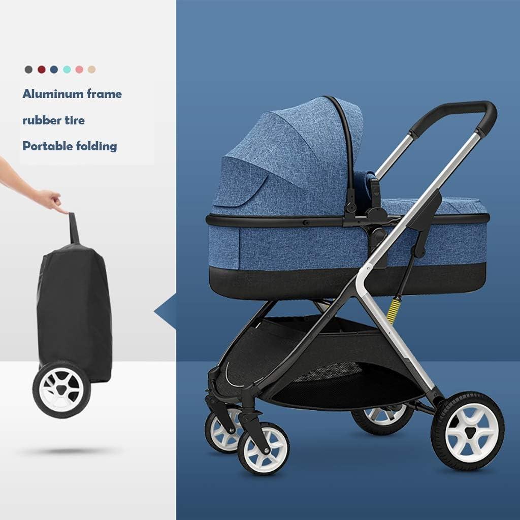 乳母車運送ベビーカー、コンパクトトラベルベビーカー、大容量アルミ合金フレーム、キャリーバッグ、旅行に最適な軽量ベビーカー (Color : Blue)