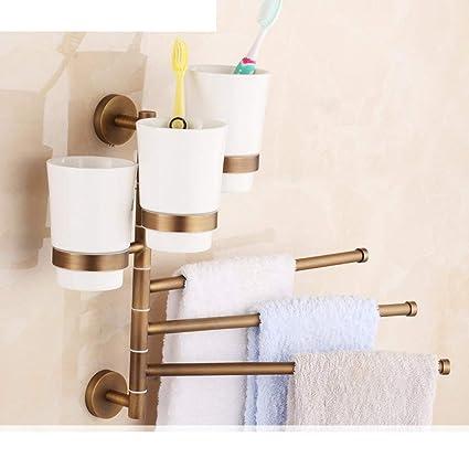 NAERFB Antique baño toallero/All-Cobre/toallero toallero Doble Giratorio/Continental Colgar