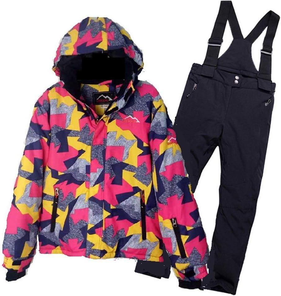 スキーウェア 防寒着子供用スキーシングルボードダブルボード暖かい屋外スキースーツ 耐性ジャケット (サイズ : 11)