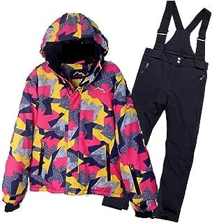 Uiophjkl Combinaison Enfant Combinaison de Neige Vêtements de Ski pour Enfants Combinaison de Ski en Plein air pour Un Conseil Double Veste Chaude d'hiver pour Enfants (Taille : 15)