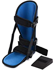 Ankle Stabilizer Brace, Unisex Adjustable Night Splint Foot Drop Orthosis Ankle Sprain Fixation Brace Foot Support for Ankle Protection(L)