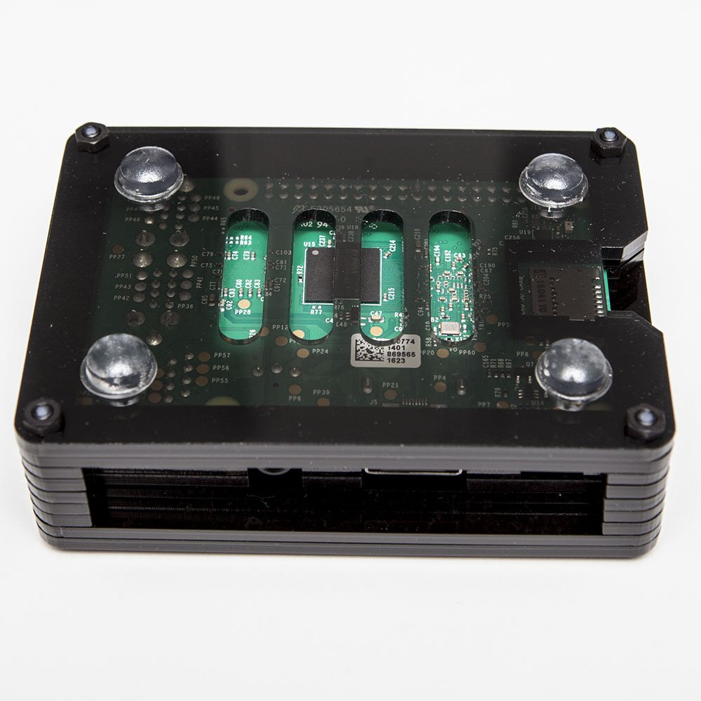RetroBox - Raspberry Pi 3 Based Retro Game Console, 32GB Edition Black Matte Case with Heatsinks Installed