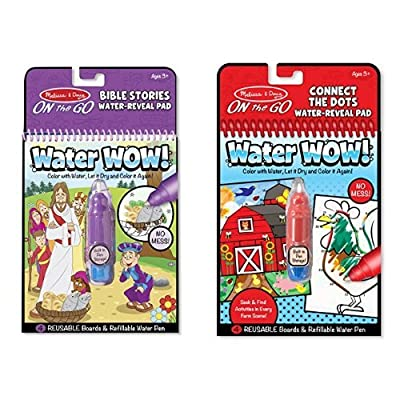 Melissa & Doug On-the-Go Water Wow! - Bible Stories and Connect the Dots Bundle: Toys & Games