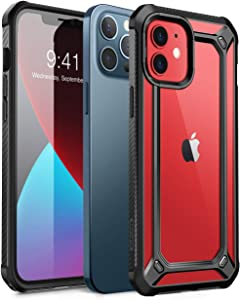 SupCase Unicorn Beetle EXO Series Case for iPhone 12 / iPhone 12 Pro (2020 Release) 6.1 Inch, Premium Hybrid Protective Clear Bumper Case (Black)