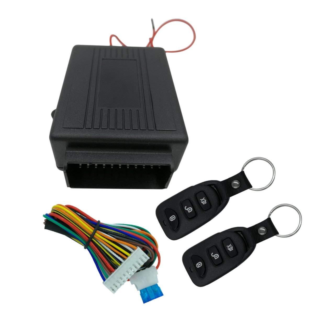 Lorenlli Universal Portable DC 12 ± 3V Voiture Télécommande Serrure de Porte Centrale Verrouillage Automatique après Avoir quitté Le système d'entrée sans clé