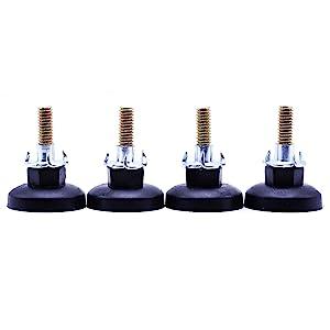 4 PCS Height Adjustable Heavy Duty Furniture Legs Leveler Heavy Duty Leveling