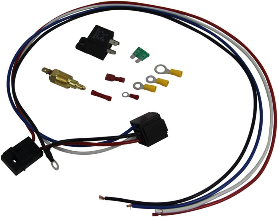 WIRING /& 30 AMP RELAY /& TEMPERATURE CONTROL SUIT 12v THERMO FAN