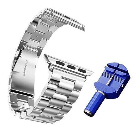NIUTOP precisión clásico pulir acero inoxidable reloj banda correa pulsera muñeca banda reemplazo perfecto para iWatch Apple Watch & & edición del ...