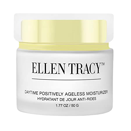 Ellen Tracy Daytime Positively Ageless Moisturizer for Face and Neck Anti-Aging Face Cream for Wrinkles Fine Lines Age Spots Skin Tone Firming Dark Circles, Moisturizing, Hydrating Day Cream, 1.77 OZ