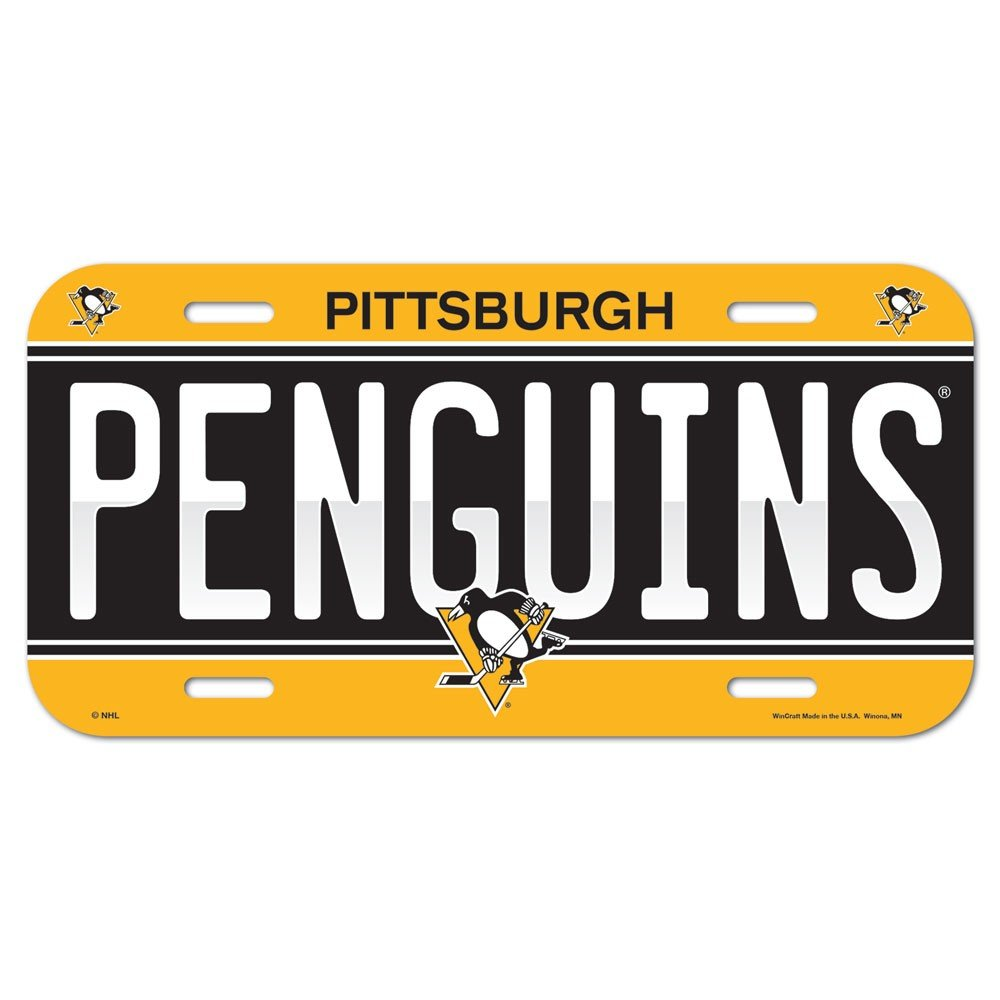 Amazon.com : WinCraft NHL Pittsburgh Penguins 85241414 License Plate ...
