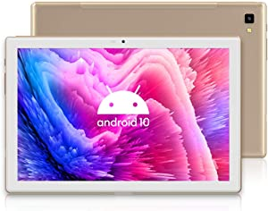 Blackview Tab8 Tablet, 10.1 inch Android 10 3g Phone Tablets with 64 GB Octa Core Processor, 1920x1200 IPS FHD Display, 13MP+5MP Dual Camera, GPS, FM, 5G WiFi, Gold