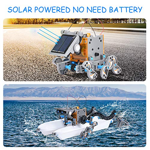 AESGOGO STEM Projects 12-in-1 Solar Robot Toys,Building Science Kits for Kids 8-12,STEM Education Gifts for Boys Girls…