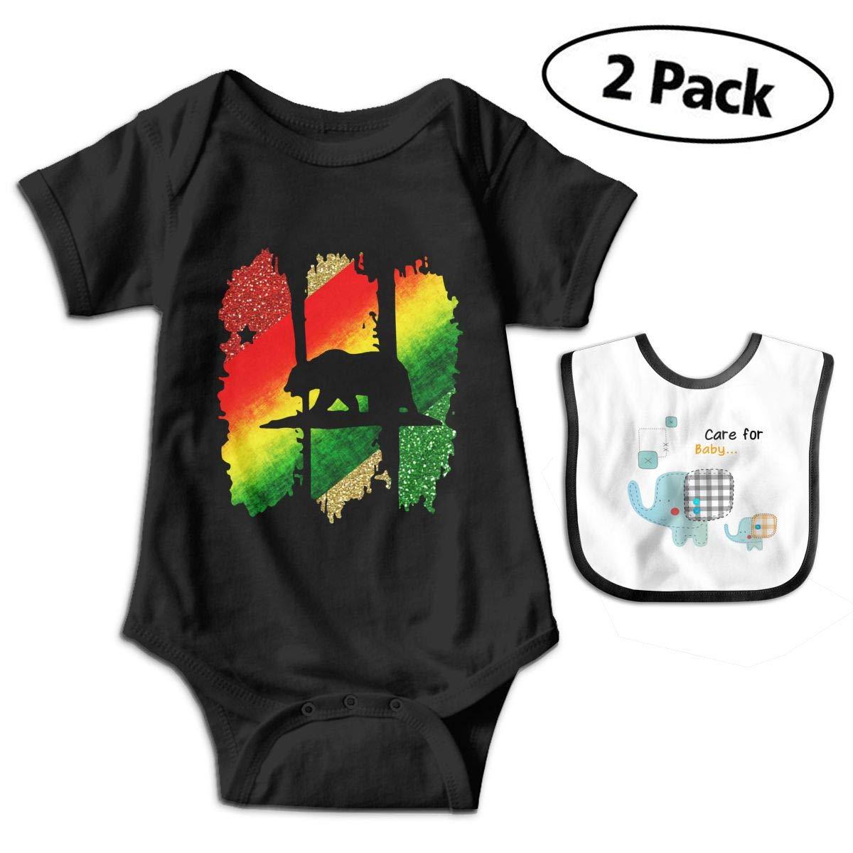 Harataki Rasta California Republic Infant Baby Short Sleeve Romper Jumpsuit Bodysuit