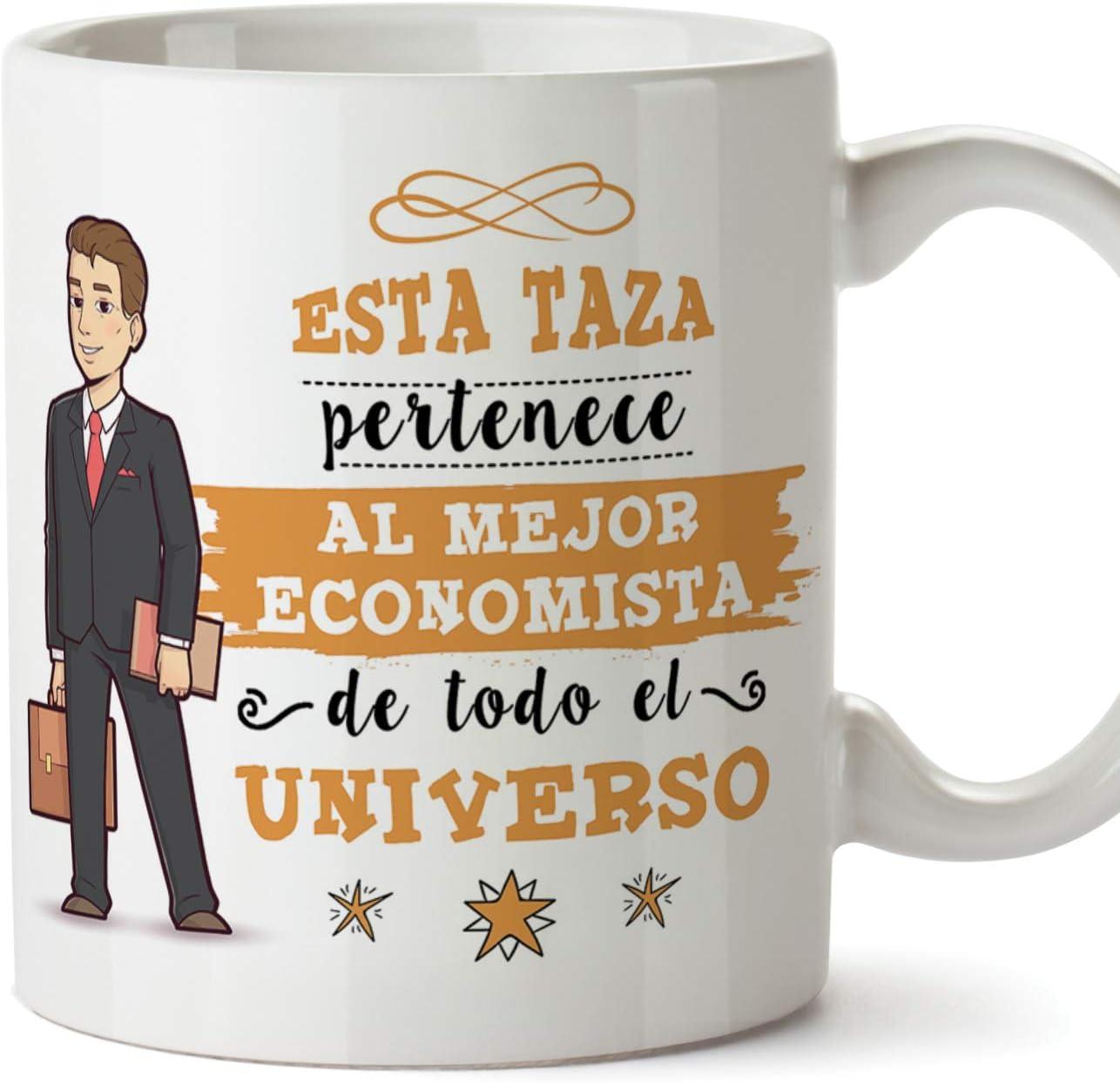 MUGFFINS Economista Tazas Originales de café y Desayuno para Regalar a Trabajadores Profesionales - Esta Taza Pertenece al Mejor economista del Universo - Cerámica 350 ml