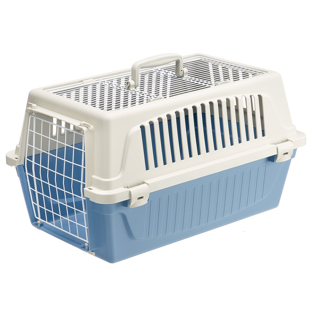 Ferplast Atlas 20 Top Opening Cat and Dog Carrier, Blue: Amazon.co ...