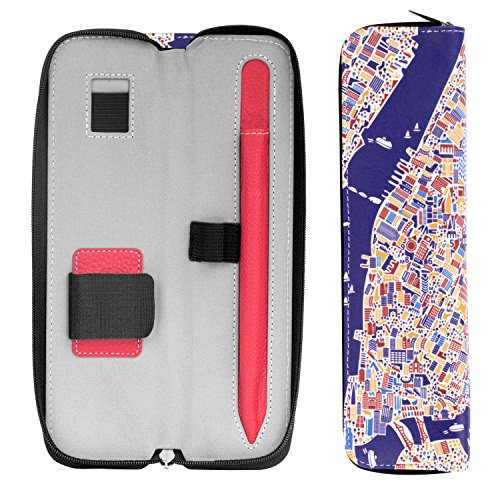 MoKo Pencil Holder Case for Apple Pencil, Premium PU Leather Case Carrying Bag Sleeve Pouch Cover for Apple iPad Pro Pencil / Pen (with Built-in Pocket and Holder), New York City